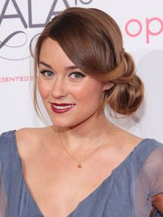 Lauren Conrad's chic rolled updo is perfect for any special occasion!