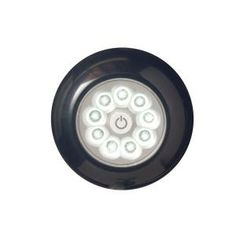 LightIt! 4 in. 9-LED Black Puck Anywhere-Light XB-30015-303 at The Home Depot
