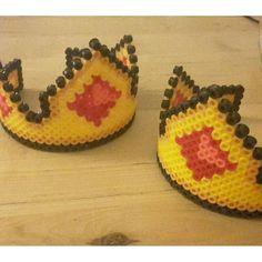 Crowns perler beads by dutchbeading