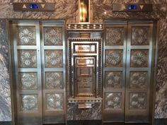 The elevators at the Colcord Hotel in OKC, OK. It was a beautiful place to stay