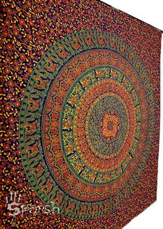 Indian Floral Hippie Tapestry, Mandala from Sparshh on Etsy