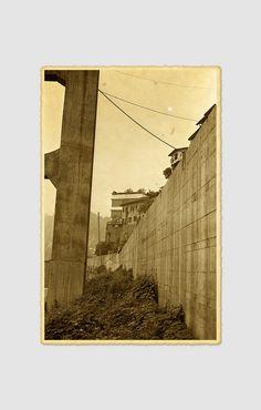 Buttresses Along the River Chongqing City China David McBride Photography
