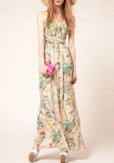 So PRETTY! Multicolor Floral Top Maxi  Dress #maxi #Maxi_Dress #Style #Fashion #Spring_2014