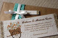 Convites de casamento sustentáveis