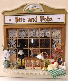 Shop Bits & Bobs with all contents and lights dolls house complete mixed goods