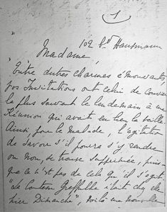 """*Proust letter from the WEBSITE of """"Véritable légende vivante dans le Paris incandescent de la Belle Époque, la comtesse Greffulhe, née Élisabeth de Caraman-Chimay (1860-1952)"""" ; https://translate.google.com/translate?sl=fr&tl=en&js=y&prev=_t&hl=en&ie=UTF-8&u=http%3A%2F%2Fwww.comtessegreffulhe.fr%2Fmarcel-proust.html&edit-text="""