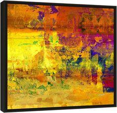 """Quadro Abstrato """"Visão Mediterrânea""""  de Carlos Alber — Reprodução em alta definição (gicleé) com pigmento mineral sobre canvas premium e acabamento texturizado."""