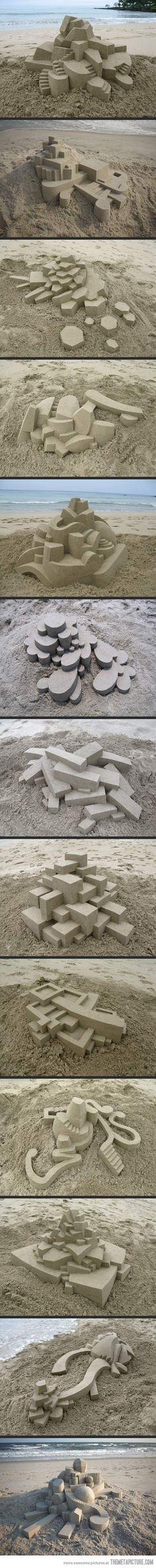 Geometrically Perfect Sand Castles…