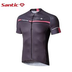 Santic Men Cycling Short Jersey Pro Fit Four Colors Antislip Sleeve Cuff Road Bike MTB Short Sleeve Top Riding Shirt M7C02107