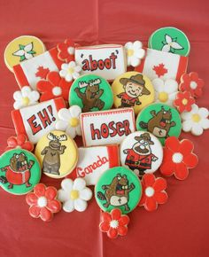 Canada Day is fast approaching, and while I had been thinking about it for several weeks already, shockingly I had not thought of what . Canadian Food, Canadian Recipes, Canada Day Party, Elegant Cookies, O Canada, Royal Icing Cookies, Food Themes, Halloween Christmas, Holiday Fun