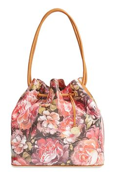 This floral drawstring tote is perfect for spring.