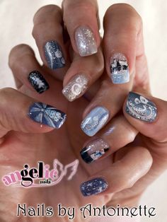 Blue Christmas by nettie_angel from Nail Art Gallery Christmas Nail Art, Blue Christmas, Angel Nails, Nail Art Galleries, Nails Magazine, Nail Polish, Hand Painted, Nailart, Art Ideas