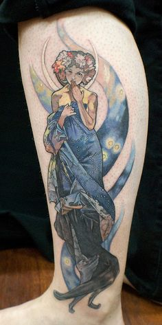 tattoo of the moment, im thinking down my left side