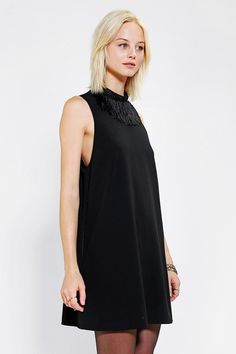 Little White Lies Fringe-Neck Shift Dress
