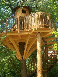 Beautiful Tree Houses, Cool Tree Houses, Cabana, Treehouse Living, Indoor Outdoor, Outdoor Living, Gazebo, Pergola, Earthy Home