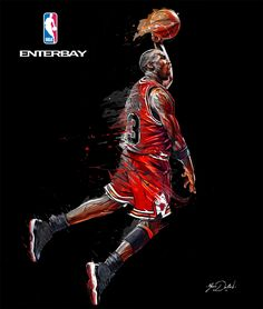 My collaboration with the brand ENTERBAY and the NBA . Three paintings of the famous Michael Jordan, Scottie Pippen and Dennis Rodman.Basketballers of the Chicago Bulls in the 90's.These artworks are created for the packaging of three sculptures.My pa…