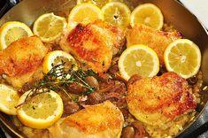 Olive, garlic and lemon chicken
