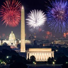 Every summer, fourth of July fireworks splash the sky with reds, whites and blues above the Lincoln Memorial, Washington Monument and U.S. C...