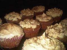 Mmm Pumpkin and buttercream cupcakes