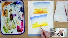 Let's Make Art Matter for Sara - August Watercolor Tutorial Watercolor Beginner, Watercolour Tutorials, Watercolor Landscape, Watercolor Paintings, Watercolor Ideas, Let's Make Art, Painting Videos, Beach House Decor, Art Tutorials