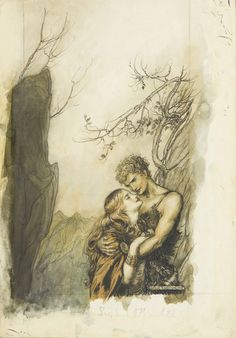 Arthur Rackham (1867 – 1939) 1911 Lovers ink & watercolour