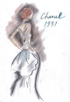 hautekills:  Chanel haute couture 1931 illustrated by Karl Lagerfeld