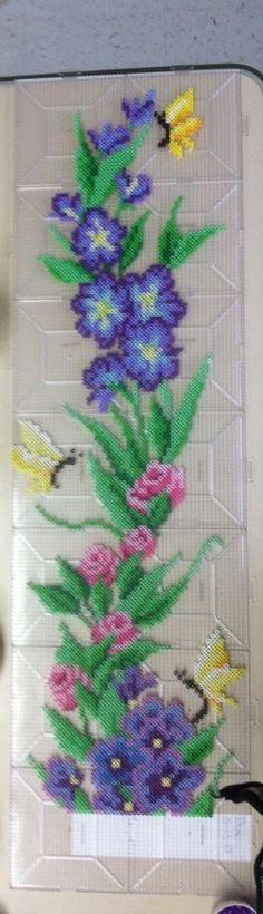 Flowers perler beads by Khoriana