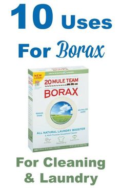 Borax is so versatile as a homemade cleaning ingredient. Here's 10 uses for borax for cleaning and laundry you can use today. #ad