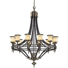 Elk Lighting 2434-12 GEORGIAN COURT Antique Bronze/Dark Umber Chandeliers Lighting