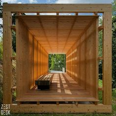 There's always something so relaxing about wooden furniture. This outdoor wooden sitting area is everything a person needs to unwind.:>Double tap if you'd like this! |via @architizer