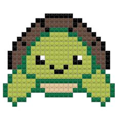Dinosaur – BRIK Hama Beads Patterns, Beading Patterns, Minecraft Pixel Art, Minecraft Ideas, Cross Stitch Patterns, Quilt Patterns, Graph Paper Drawings, Pixel Art Grid, Lego Projects
