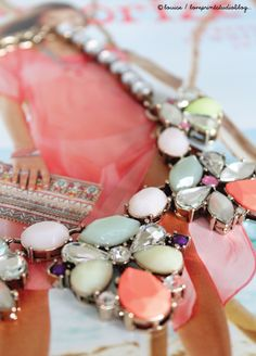 Beautiful statement necklace from Accessorize and a gathering of some other gorgeous jewellery pieces from the new collection for Spring 2014... love print studio blog: Spring 2014 at Accessorize...