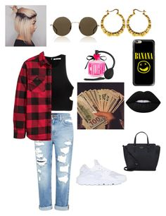 """👑"" by qveennnnnn on Polyvore featuring Genetic Denim, T By Alexander Wang, H&M, Victoria's Secret, Lime Crime, NIKE, Kate Spade, Illesteva and Casetify"