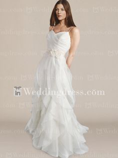 Tiered Bridal Gown with Straps and Floral Sash BC620... perfect for MKW