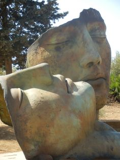 Sculpture at Valley of the Temples in Agrigento, Italy by Igor Mitoraj (Polish 1944-2014)