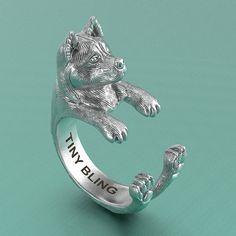 Akita Breed Jewelry Cuddle Wrap Ring