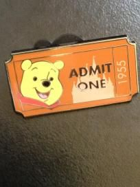 2012 Disneyland pooh ticket pins