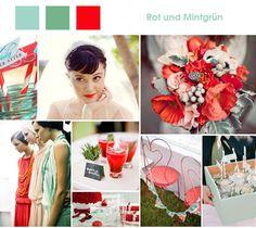 Rot-Hochzeit-Mintgrün-dekoration-mixmatch-Brautjungfernkleider www.optimalkarten.de/blog/