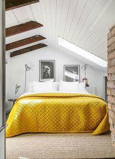 20 ideas para integrar un dormitorio encantador en la buhardilla | Mil Ideas de Decoración