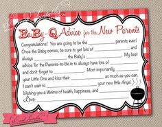 Printable Gingham BabyQ Mad Libs DIY Barbecue by EventPrintables, $15.00