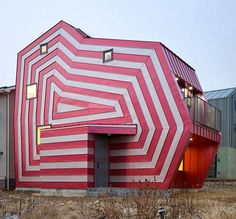 Lollipop house - Completed in January 2012, this 1,110 square foot eye-catching home is located in Giheung-Gu, South Korea.