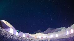 Igloo Hotel, Mayrhofen, Austria Starry Starry Night by Danny North, via Flickr