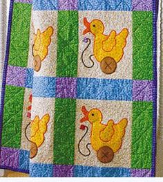 Just Ducky Baby Quilt - from quilting for baby