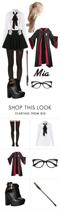 """Mia (Harry Potter OC)"" by lord-nightshade on Polyvore featuring Wolford, Diane Von Furstenberg and EyeBuyDirect.com"