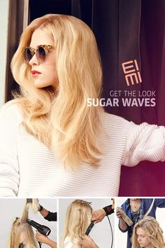 Sugar Waves  Create romantic waves for your next night out. Watch a Wella stylist create the look using our new products EIMI Sugar Lift Sugar Spray for body and volume and EIMI Perfect Me Lightweight BB Lotion to perfect the look.
