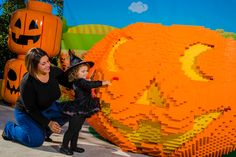 Stop by the world's largest LEGO Jack-O-Lantern and get your photo taken! #BrickorTreat #LEGOLANDFlorida #Halloween