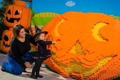 Stop by the world's largest LEGO Jack-O-Lantern and get your photo taken! #BrickorTreat #LEGOLANDFlorida #Halloween