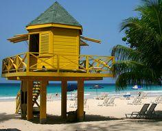 Lifeguard Watch Tower Accra Beach (by gav2005) Bridgetown, Barbados