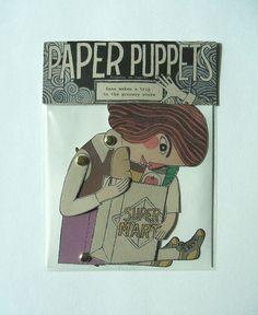 Sweet paper puppet