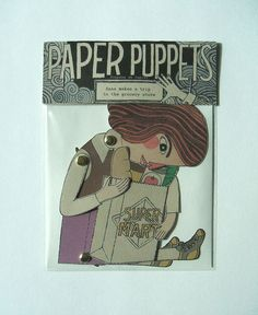 Sweet paper puppet